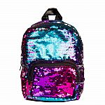 Gradient Rainbow/Silver Magic Sequin Mini Backpack