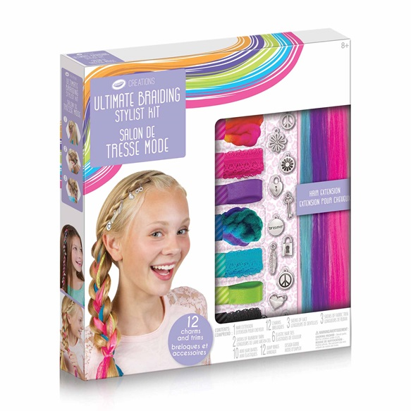 Crayola Creations Ultimate Braiding Stylist Kit Toy Sense