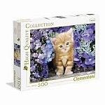 Ginger Cat in Flowers - Clementoni