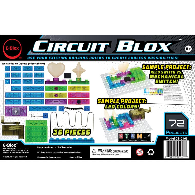 Circuit Blox 72 - Circuit Board Building Blocks - Toy Sense