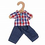 "Check Shirt and Jeans for 11"" Doll"