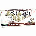 2 in 1 Magnetic Folding Chess & Checkers