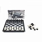 Magnetic Travel Size Chess & Checkers