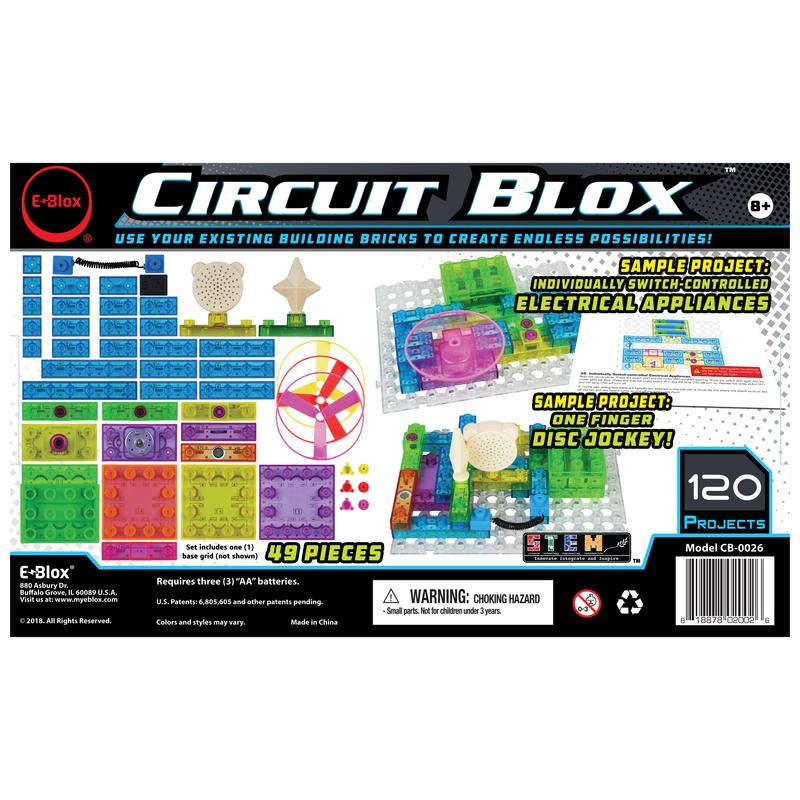 Circuit Blox 120 - Circuit Board Building Blocks Coding Kit - Toy Sense
