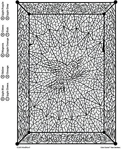 Color counts sun catchers toy sense for Color counts coloring pages