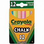 12 Colourex Coloured Chalk