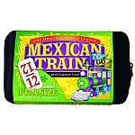 Mexican Train Dominoes Compact Set