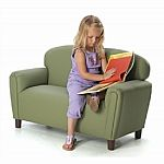 Preschool Enviro-Child Upholstery Sofa - Sage