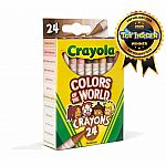 24 Colors of the World Crayons.