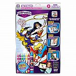 DC Super Friends Girls Rule Paper-To-Digital Colouring Set