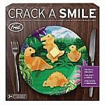 Fred and Friends -  Crack a Smile Dinosaur Breakfast Mold & Plate Set