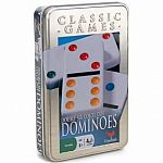 Double 6 Coloured Dominoes Tin