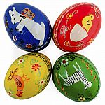 Easter Egg Wooden - Animal Designs