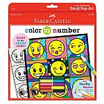 Faber-Castell Color by Number Emoji Pop-Art - Color by Number with Markers