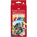 10 Jumbo Coloured Pencils w/ Sharpener