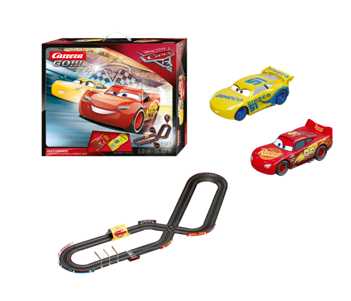 carrera go disney pixar cars 3 fast friends race track toy sense. Black Bedroom Furniture Sets. Home Design Ideas