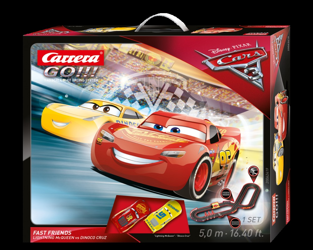 carrera go disney pixar cars 3 fast friends race track. Black Bedroom Furniture Sets. Home Design Ideas
