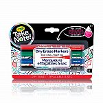 Take Note Dry Erase Markers - Fine Line (4-Pack)