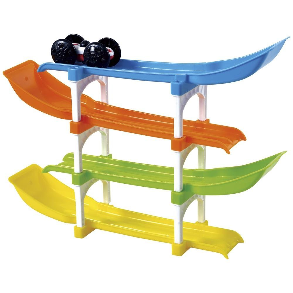 4 Level Race Track and Ramp Car Toy for Toddlers Ages 2 Years Old and Up KidSource Flip and Go Racer