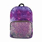 Crushed Velvet & Chunky Glitter Backpack