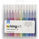 Glitter Markers - Set of 12
