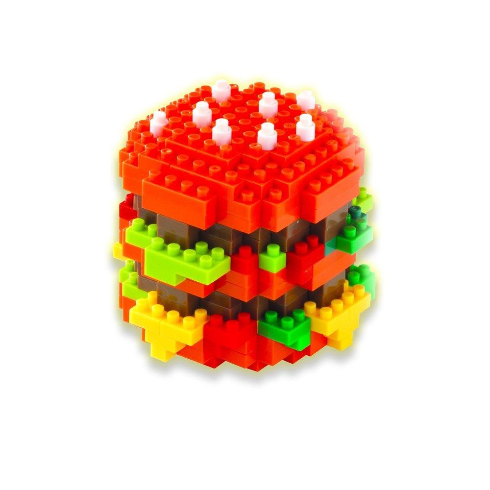 Bepuzzled 3d Pixel Puzzle Hamburger Toy Sense Electronics Learning Circuits Thames Kosmos Timberdoodle Co