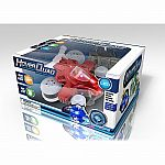 Mini Hoverquad Sidewinding Stunt Car - Red (27 MHz)