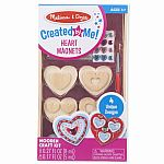 Decorate-Your-Own - Heart Magnets Wooden Craft Kit