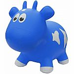 Farm Hoppers Inflatable Bouncing Blue Cow with Pump