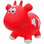 Farm Hoppers Inflatable Bouncing Red Cow with Pump