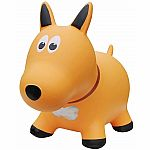 Farm Hoppers Inflatable Bouncing Yellow Dog with Pump