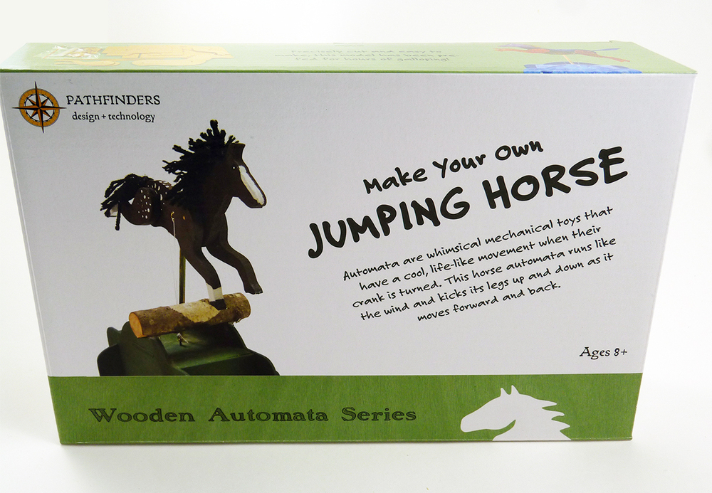*NEW* Pathfinders Jumping Horse Working Wooden Construction Craft Kit