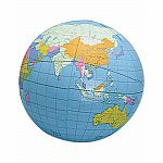 "12"" Inflatable World Globe"