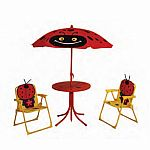 4-piece Kids Lady Bug Patio Set