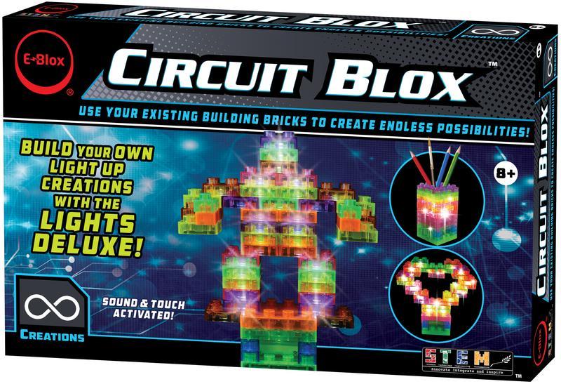 Circuit Blox Lights Deluxe - Circuit Board Building Blocks
