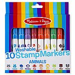 10 Washable Stamp Markers - Animals