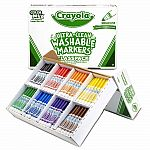 Crayola 200 Ultra-Clean Washable Markers - Classpack