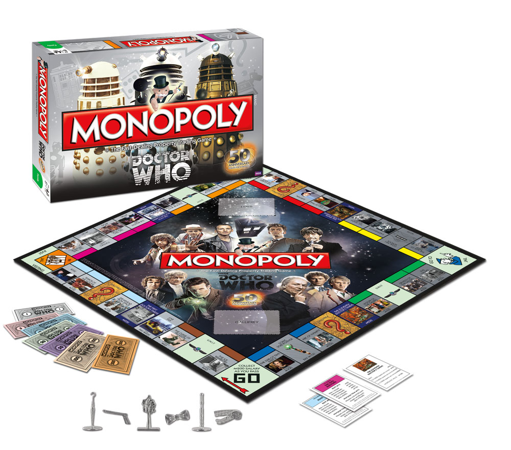 Monopoly: doctor who 50th anniversary collector's edition toy sense.