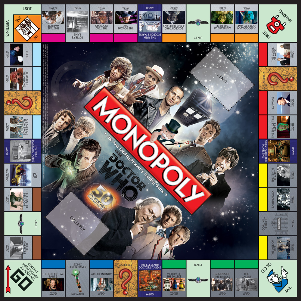 Doctor who 50th anniversary monopoly.