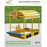 Wooden Sandbox with Canopy