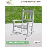 White Child's Rocking Chair