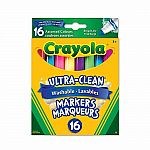 16 Washable Broad Line Markers