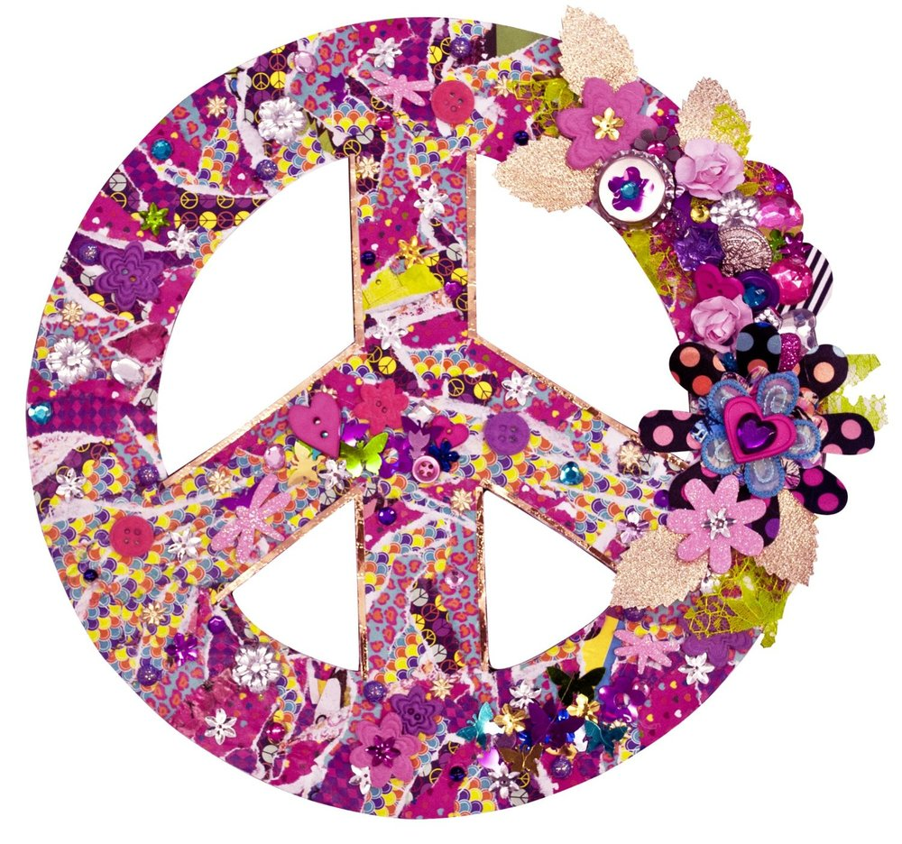 Mod Collage Peace Sign Wall Art Toy Sense