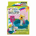 100% Extra Small Mini Clay Kit - Pool Party Llama.