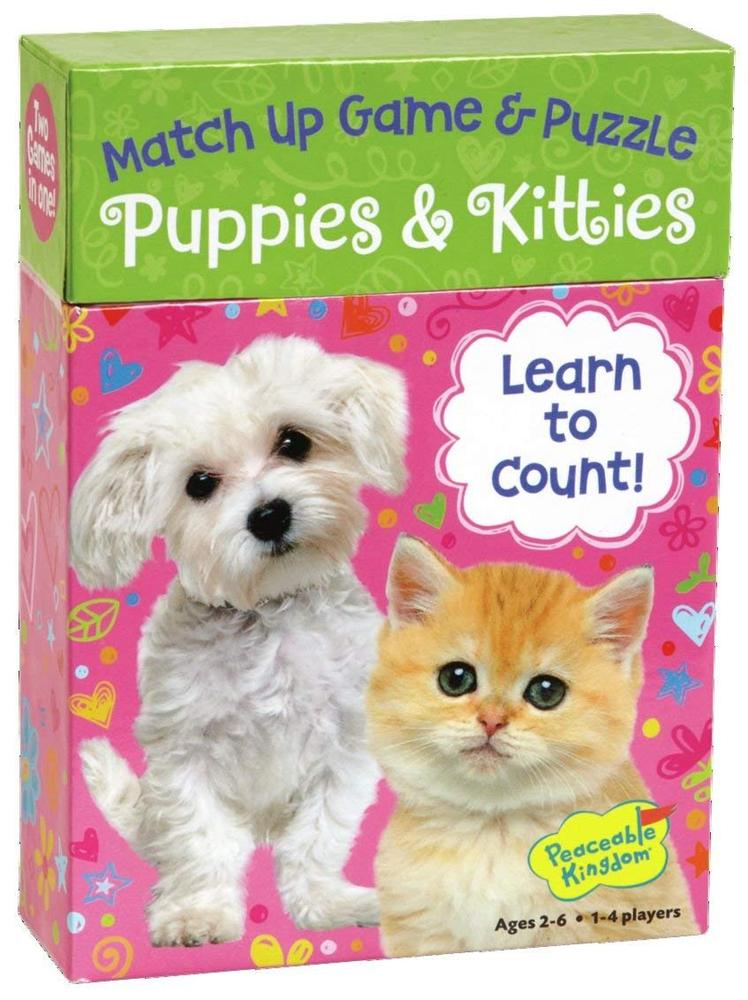 Puppies Kitties Match Up Game And Puzzle Toy Sense