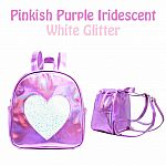 Heart Backpack - Purple .