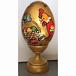 Easter Egg Wooden Gold & Animal