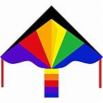 "Simple Flyer Rainbow 47"" Kite"