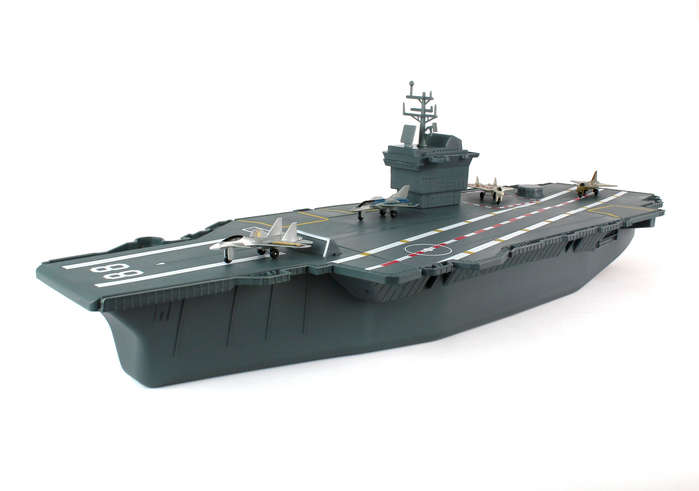 Daron Aircraft Carrier with 4 Diecast Aircrafts - Toy Sense