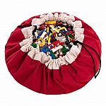 Play & Go Children's Drawstring Play Mat and Toy Organizer Storage Bag - Red